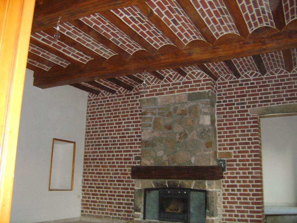 Interieur en briques une r alisation utilisant les for Briques interieur